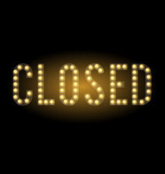 shop closed sign vector image