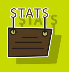 Sticker statistics icon infographic chart symbol vector