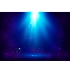abstract blue magic light vector image