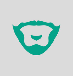 Goatee icon vector