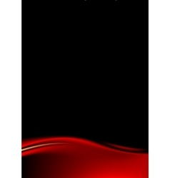 Red stage curtain on black background vector image