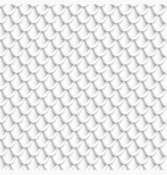silver fish scales seamless pattern vector image