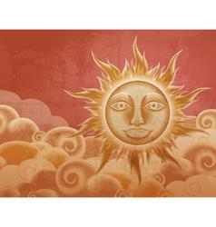 Vintage sun vector image vector image