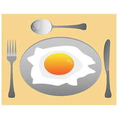 eat egg vector image vector image