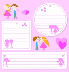 love sticker vector image vector image