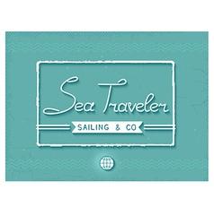 3D sea traveler print vector