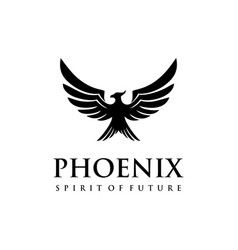a scary looking phoenix vector image