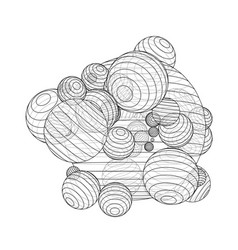Abstract outline spheres concept vector