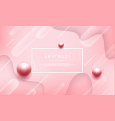 abstract pink background with beautiful pearls vector image