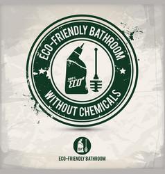 alternative eco friendly bathroom stamp vector image