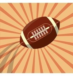 American football ball vector
