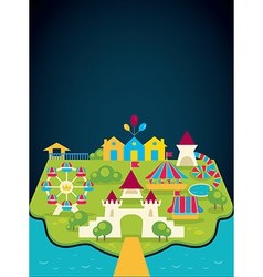 amusement park vector image