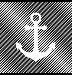 anchor icon icon hole in moire vector image