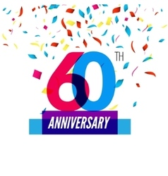 Anniversary design 60th icon anniversary vector image