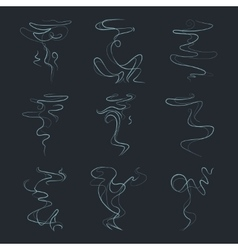 Aroma vapor trail steam smell odor vector image
