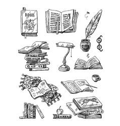 beautiful hand drawn set vector image