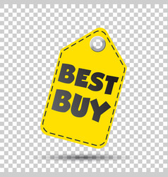 Best buy hang tag vector