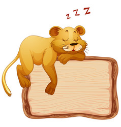 board template with cute tiger on white background vector image