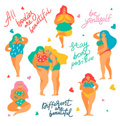 Body positive concept vector