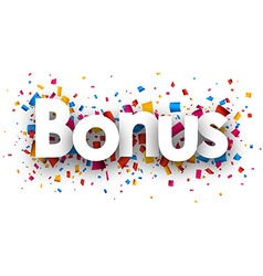 Bonus sign vector image