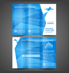 Brochure airplane flight tickets air fly vector