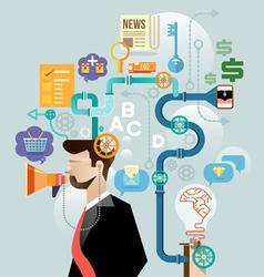 Businessman create ideas concept vector image