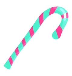 Candy cane icon cartoon style vector