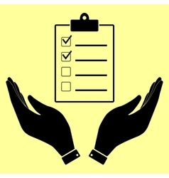 Checklist sign Flat style icon vector image