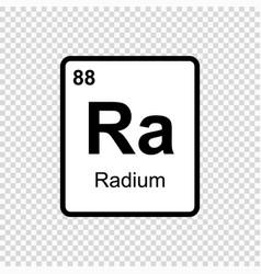 Chemical element radium vector