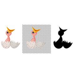 Chick hatchling egg cartoon vector