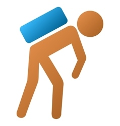 Child Courier Gradient Icon vector