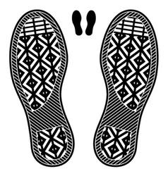 Clean shoe imprints vector