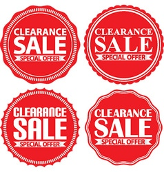 Clearance sale special offer red label set vector