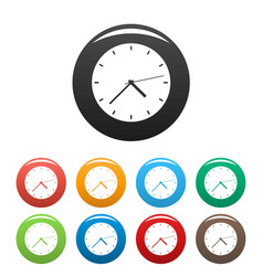 clock modern icons set color vector image