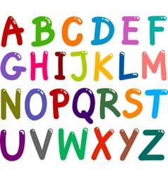 colorful Capital Letters Alphabet vector image