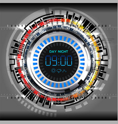 cyber timer tech vector image
