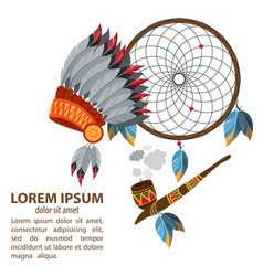 Dreamcatcher indians talisman objects of magic vector