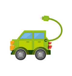 eco car isolated icon vector image