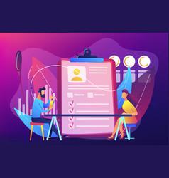 Employee assessment concept vector