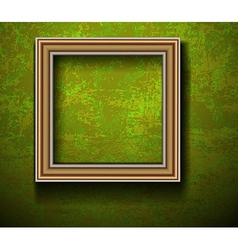 Empty Picture Frame on Grunge Wall vector image
