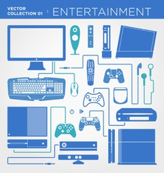 Entertainment Collection vector image