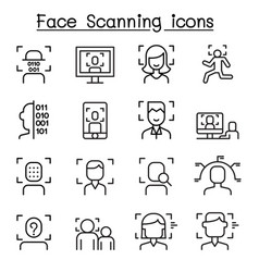 face id detection recognition vector image