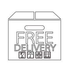 Free delivery box icon symbol design vector