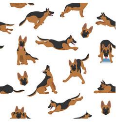 German shepherd dogs in different poses shepherd vector