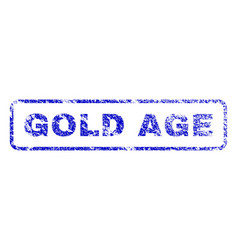 Gold age rubber stamp vector