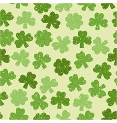Green seamless clover pattern vector