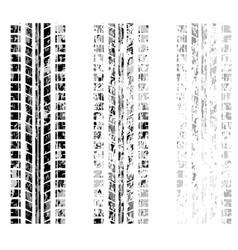 grunge tire tracks set vector image