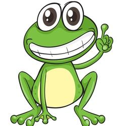 Happy cartoon frog vector