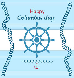 Happy columbus day poster vector