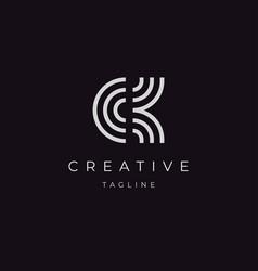 initials letter ck logo design vector image